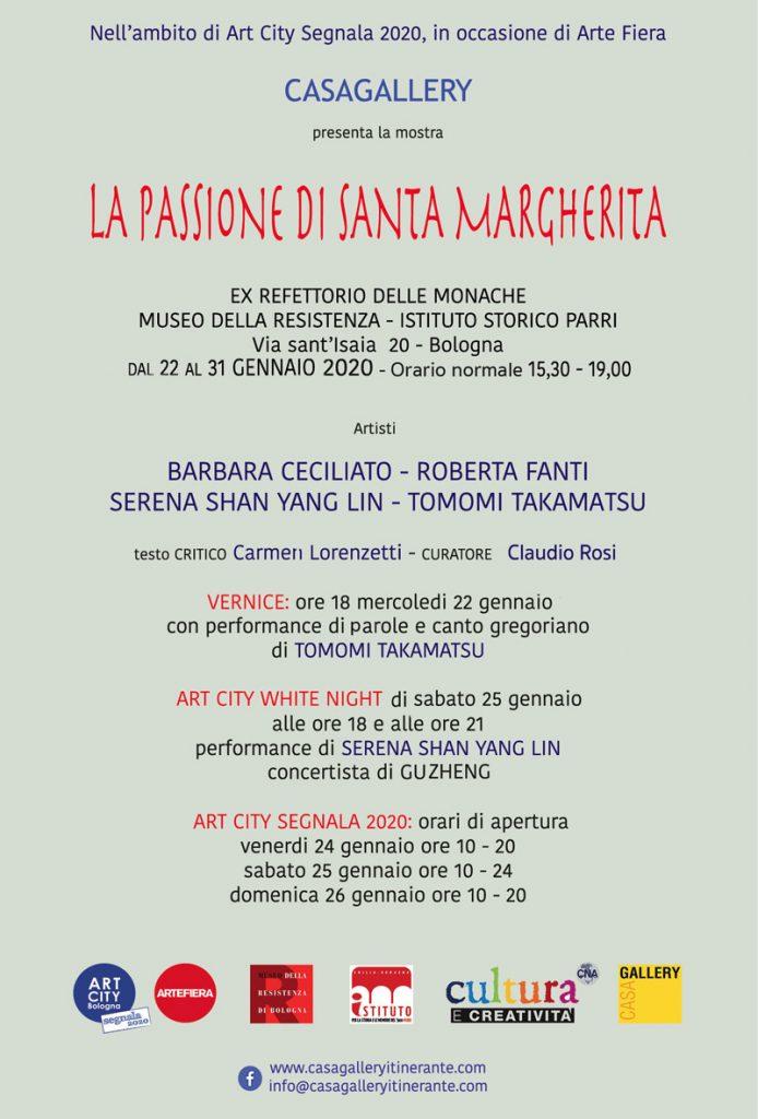 LA PASSIONE DI SANTA MARGHERITA @ Ex Refettorio delle Monache - Istituto Storico Parri-Museo della Resistenza di Bologna